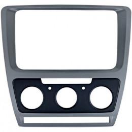 Рамка переходная Intro RSC-8676 M-SL (SKODA Octavia 04+  для CHR-8676 Silver  (Мех.печь))