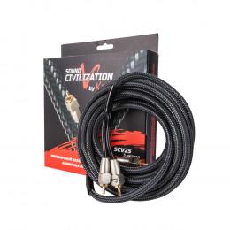 Межблочный кабель KICX 2RCA-2RCA кабель SCV25