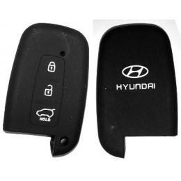 Силиконовый чехол для смарт-ключа Hyundai 3 кнопки (RIO европа,  Hyundai X35) 024