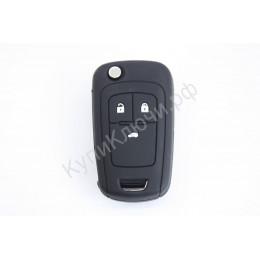 Силиконовый чехол для выкидного ключа Chevrolet 3 кнопки 035