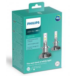 Комплект LED ламп головного света PHILIPS 2 H7 12V 14W Ultinon (6200К)