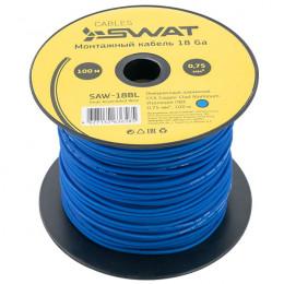 Монтажный кабель SWAT SAW-18BL (синий, ССА,100м)