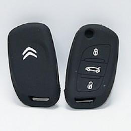 Силиконовый чехол для выкидного ключа Citroen 3 кнопки (C5/C4, Berlingo, лезвие VA2) 009