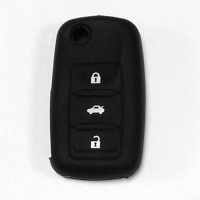 Силиконовый чехол для выкидного ключа Skoda 3 кнопки 033
