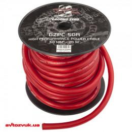 Силовой кабель GROUND ZERO GZPC 50R 0Ga (1м.)