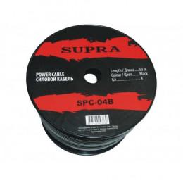 """Силовой кабель SUPRA SPC-04B """"-"""" 12 вольт,  4 Ga  50 м"""