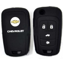 Силиконовый чехол для выкидного ключа Chevrolet 4 кнопки 031