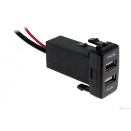 USB разъем в штатную заглушку для Toyota с зарядным устройством