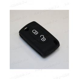 Силиконовый чехол для выкидного ключа Citroen 2 кнопки (C2/C3/C4) 011